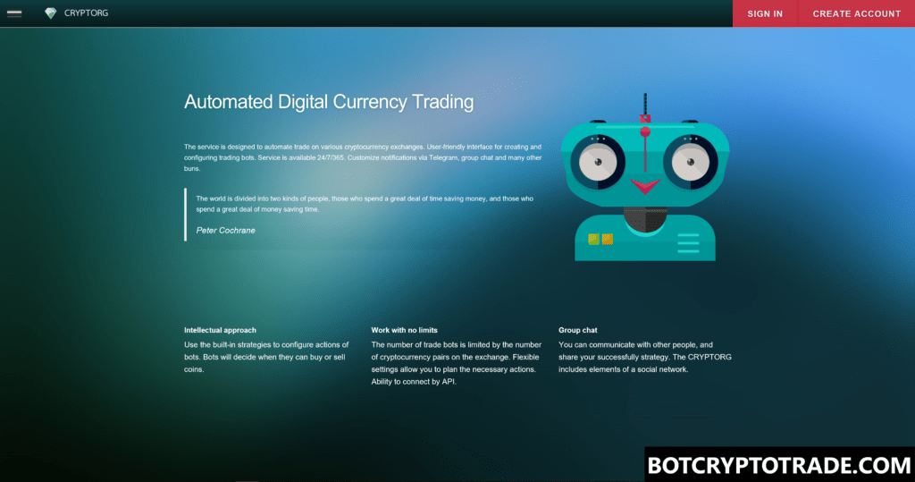 Automated Crypto Currency Trading - Cryptorg