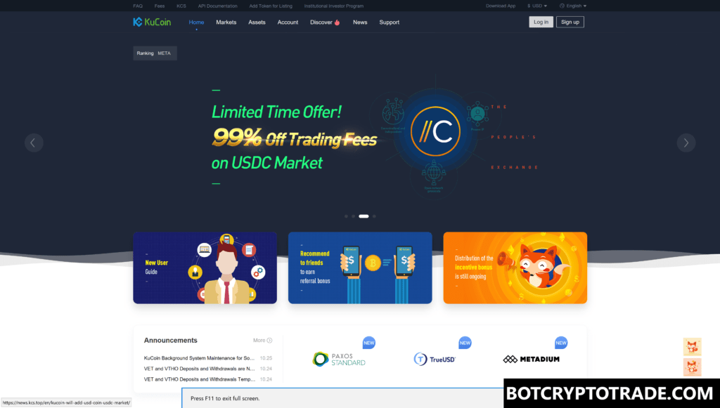 Kucoin Review and signing up