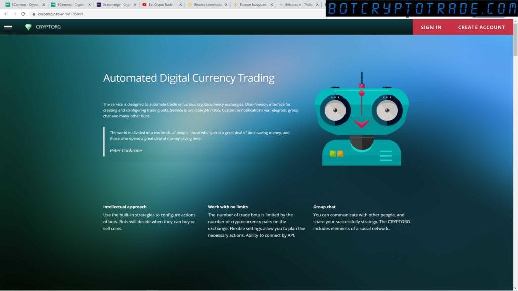 El bot de Cryptorg: registro y activación de cuenta