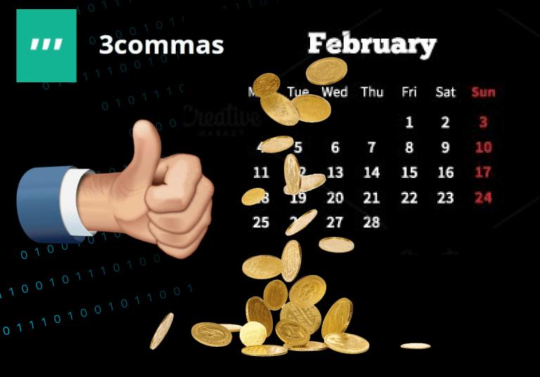 ผลการเทรดผ่าน 3commas สำหรับเดือนกุมภาพันธ์ 2019
