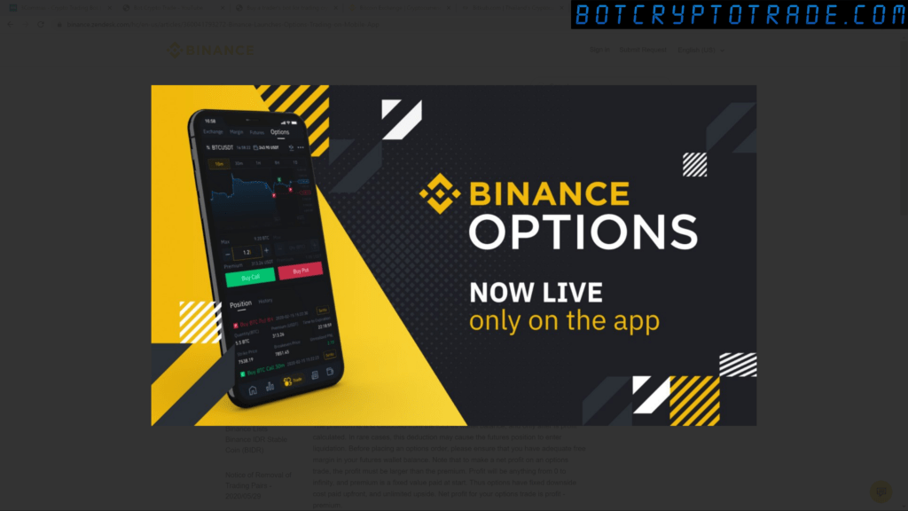 binance options