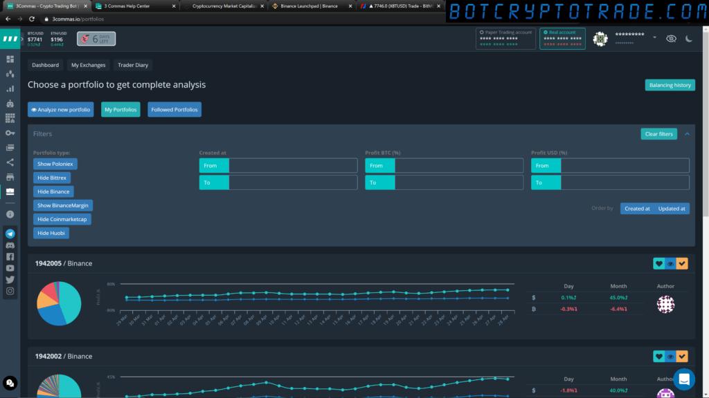 Портфолио криптовалют на 3коммас